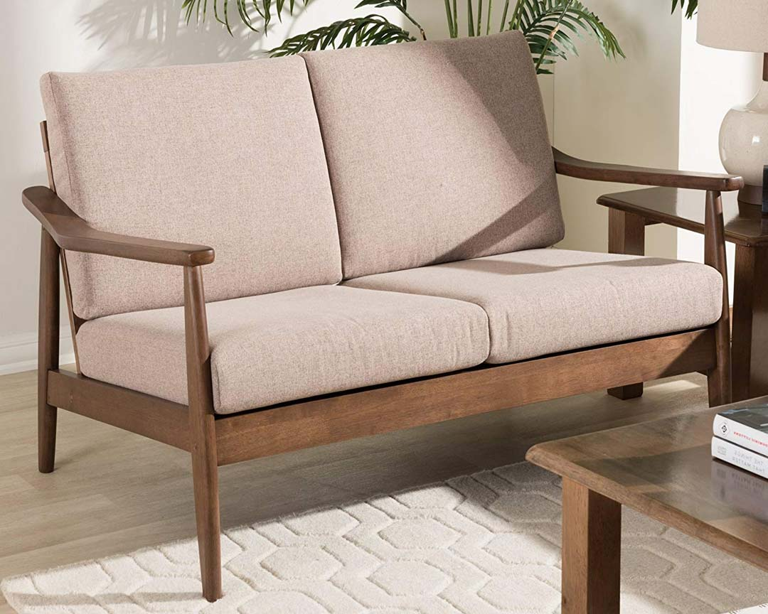 Baxton Studio Venza Mid-Century Bench - Featured