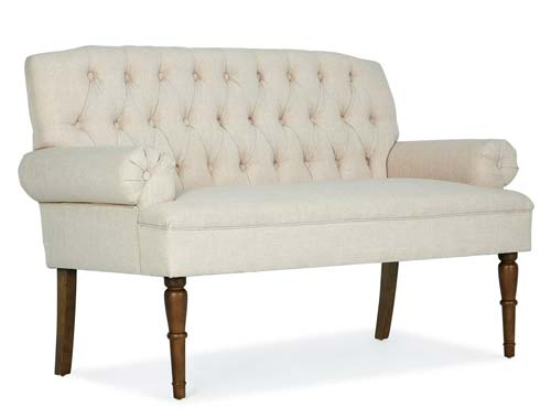 Belleze Button Tufted Vintage Mid-Century Love Seat - Beige