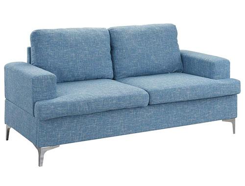 Casa Andrea Milano Club Style Frame Loveseats - Light Blue