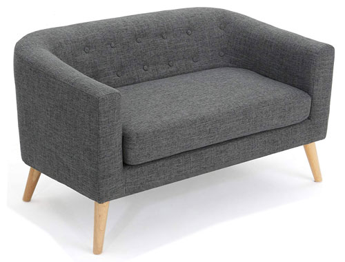 Christopher Knight Home Bridie Midcentury Loveseat - Grey