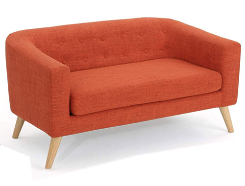 Christopher Knight Home Bridie Midcentury Loveseat - Orange