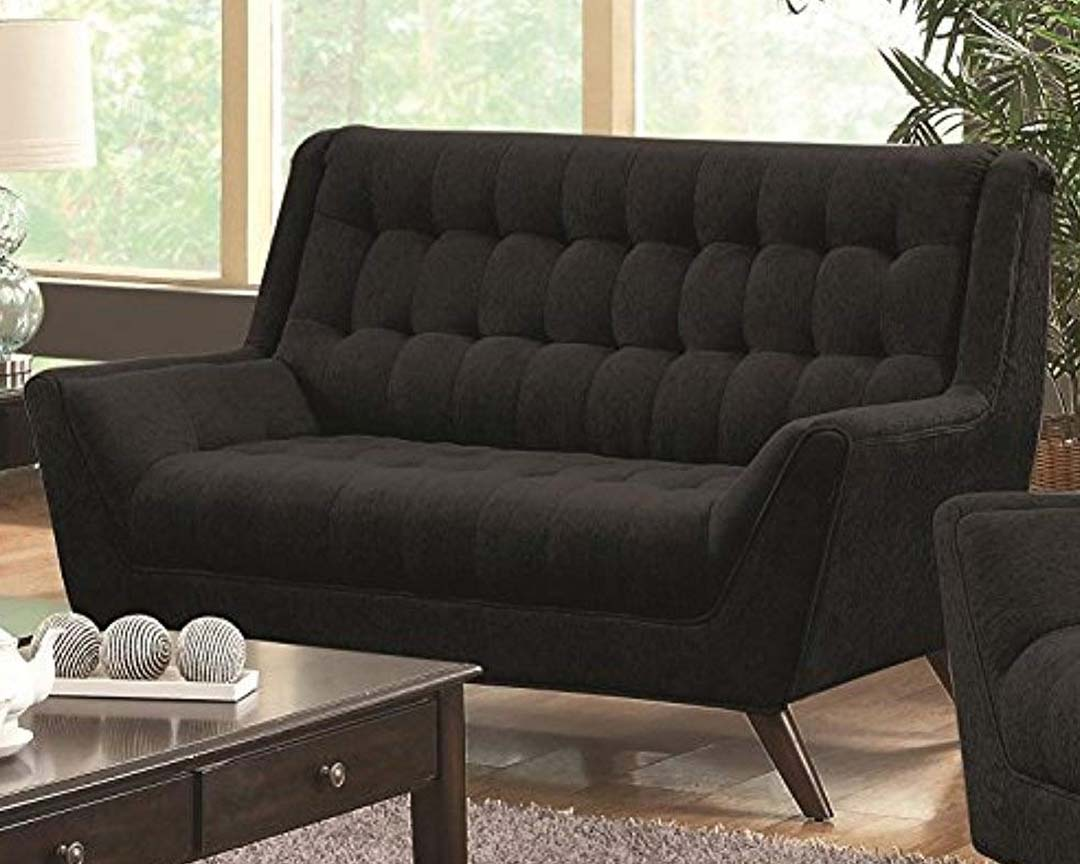 Coaster Home Furnishings Natalia Loveseat Mid-Century - Featured