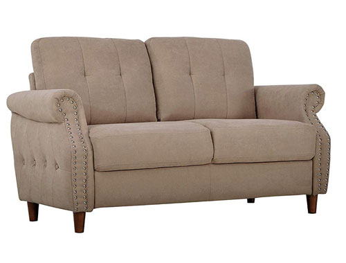 Container Furniture Direct - Briscoe - Midcentury Loveseat - Brown