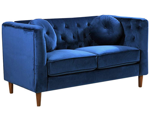Container Furniture Direct - Kitts (Velvet) - Blue
