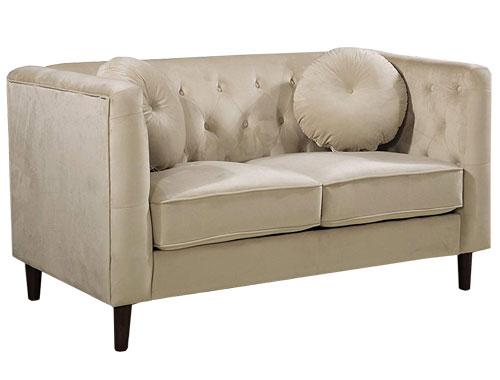 Container Furniture Direct - Kitts (Velvet) - White