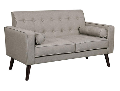 Container Furniture Direct Valadez Loveseat Mid-Century - Light Brown