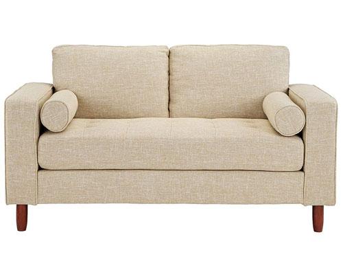 Divano Roma Modern Tufted Love Seat - Beige