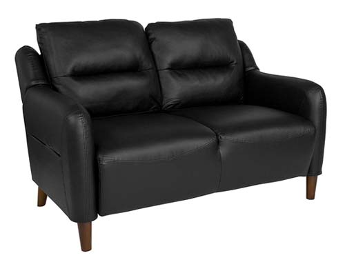 Flash Furniture Newton Hill - Two-seat Sofa Midcentury - Black