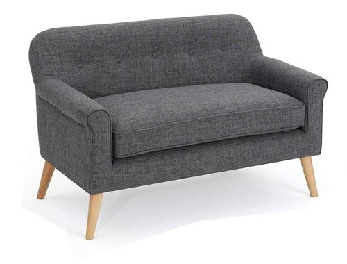 GDF Studio Mia Midcentury Modern Couch - Gray