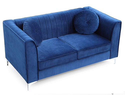 Glory Furniture Delray Loveseat Mid-Century - Navy Blue