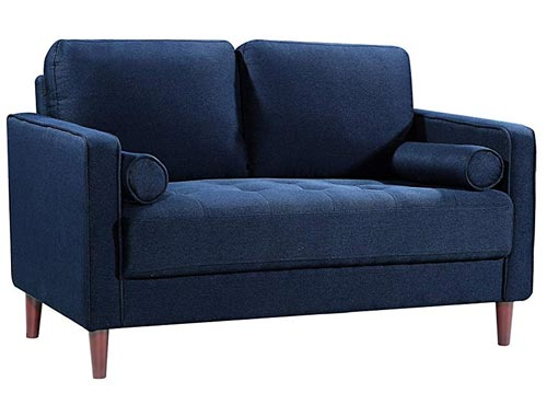 Lifestyle Solutions Lexington Love Seat - Navy Blue