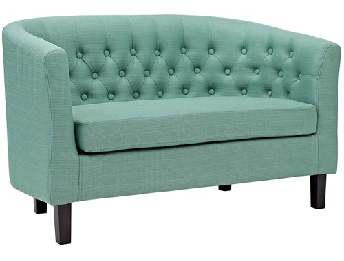 Modway Prospect Loveseat Sofa (Fabric) - Mint (Laguna)