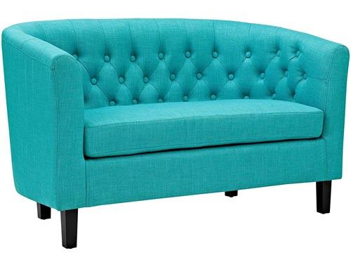 Modway Prospect Loveseat Sofa (Fabric) - Turquoise
