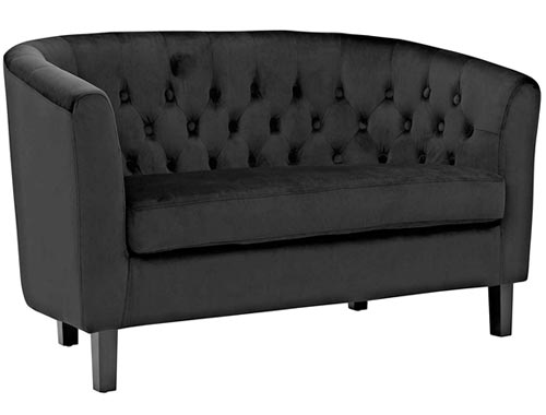 Modway Prospect Loveseat Sofa (Velvet) - Black