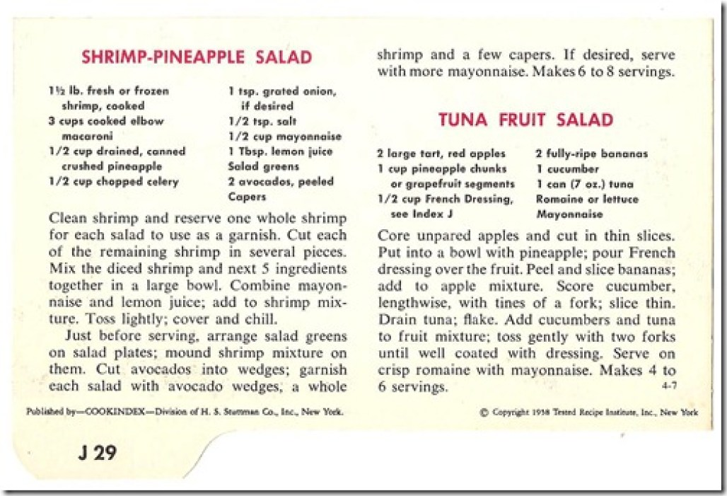 Tuna Fruit Salad 1