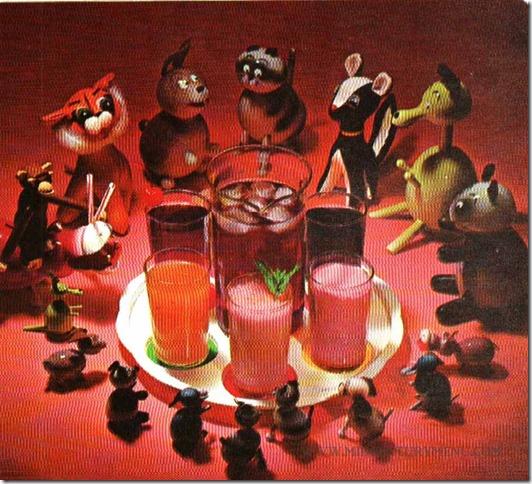 Animals Cranberry Drinks - Mix Around With Cranberry Juice, Ocean Spray, 1960