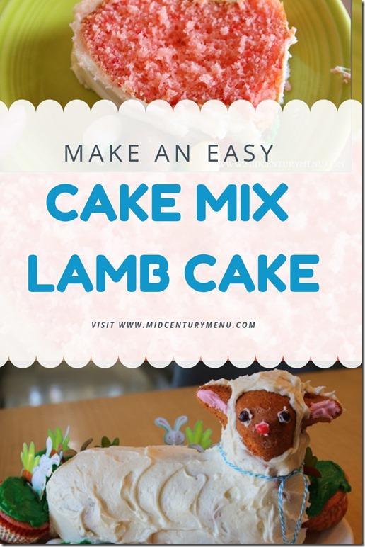 Cake Mix Lamb Cake