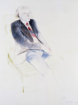 Andy Warhol by Hockney