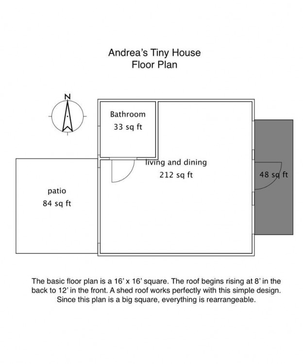 Andrea's Tiny House Floor Plan
