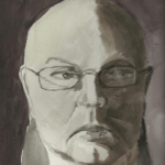 Watercolor Self-Portrait.