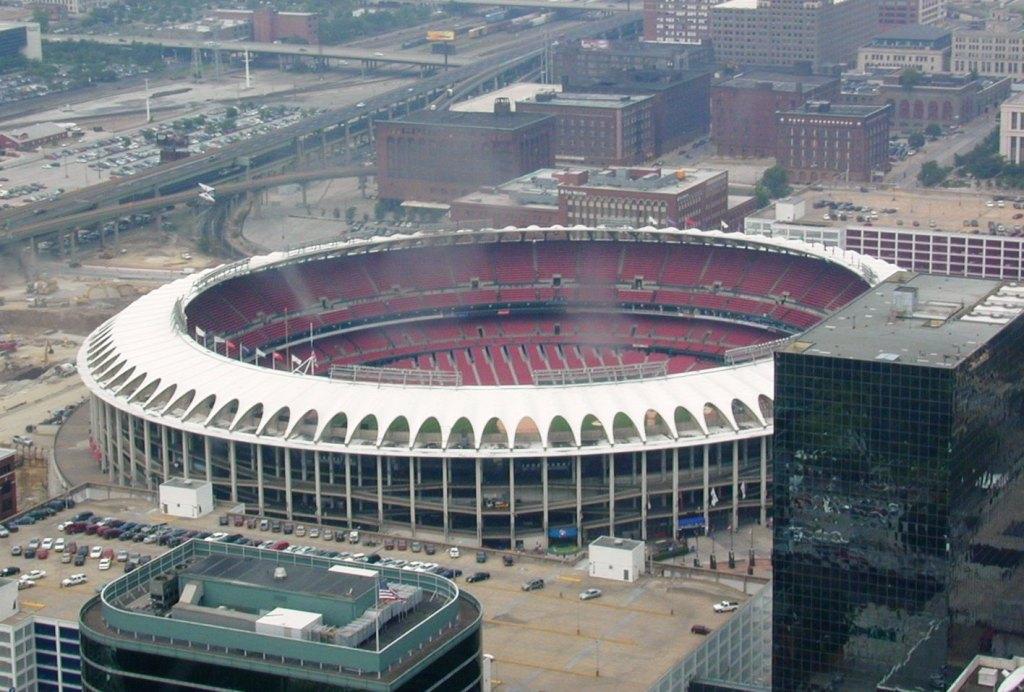 Busch Stadium, Home of the St. Louis Cardinals Baseball and Cardinals Football Team, 1966.