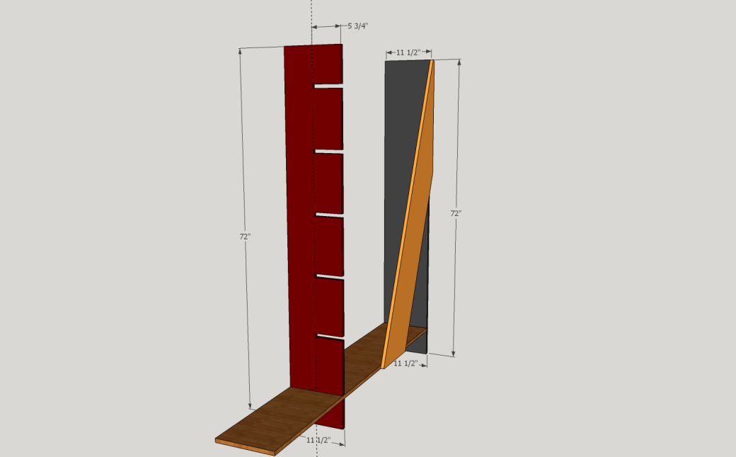 Showing the Dimensions.