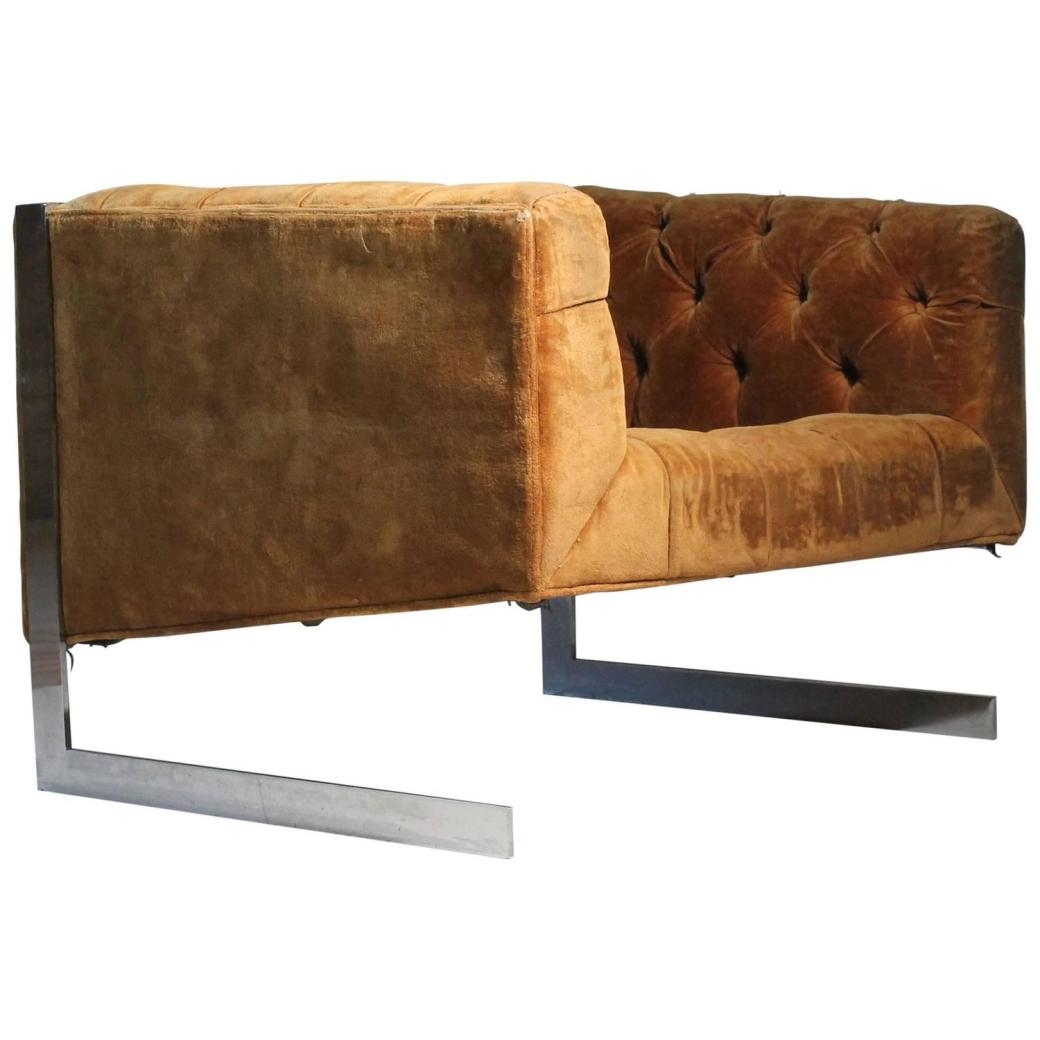 Cantilevered Lounge Chair.