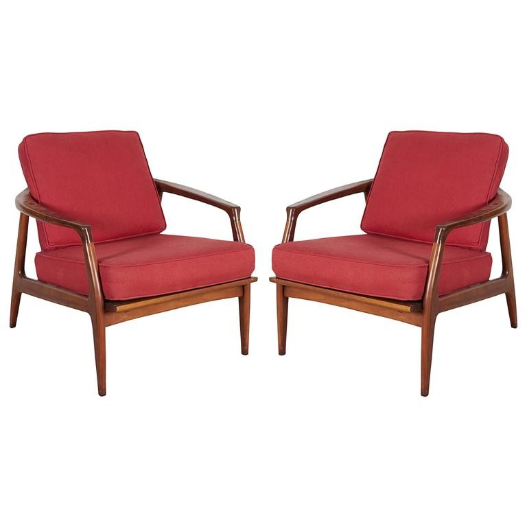 Walnut Lounge Chairs.