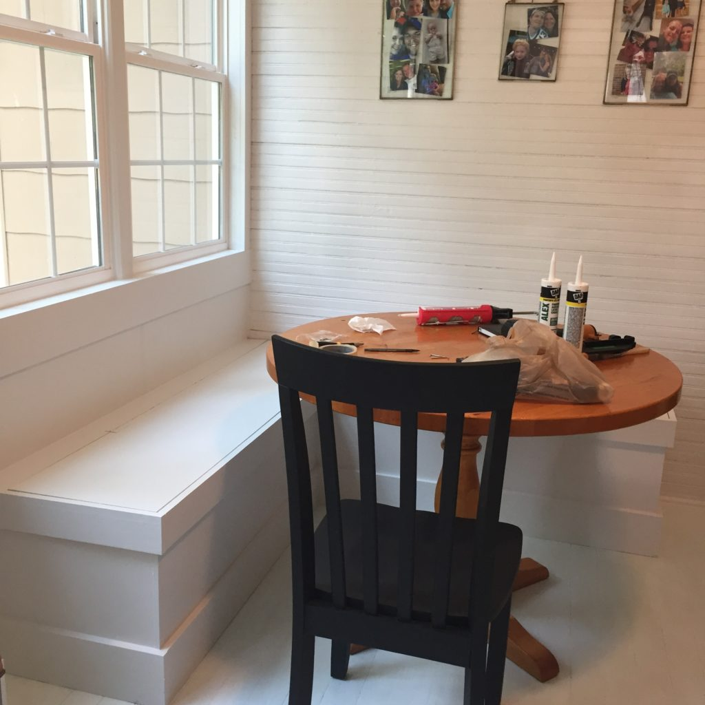 Sunroom Shines: DIY Breakfast Nook Benches