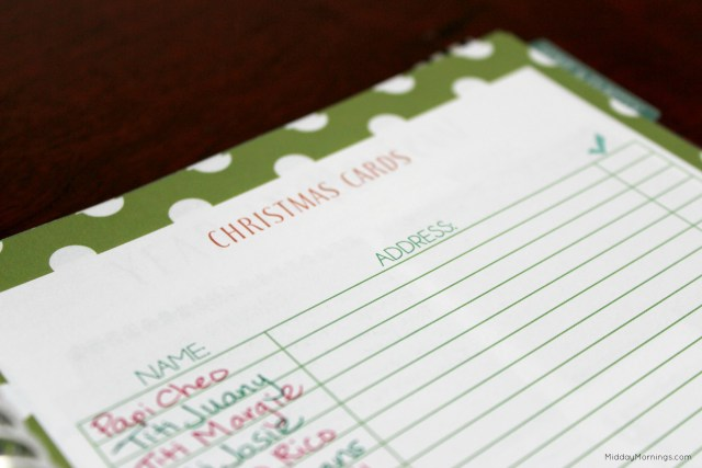 Keeping Christmas organized isn't as stressful in years past with the Mothers Who Know Mormon Mom Planner. I keep track of gifts to give, treats to make, and cards to send all in one place. | MiddayMornings.com