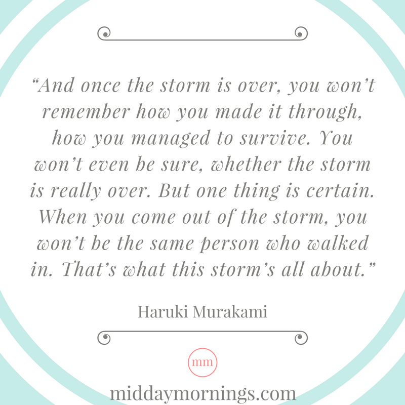Infertility is a storm that changes you forever. | MiddayMornings.com