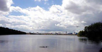 View of Minsk over the lake