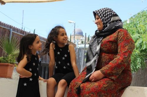 Amal Samrin at her home in East Jerusalem