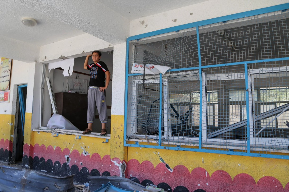 More than 50 educational facilities in Gaza were damaged in the May bombardment (MEE/Mohammed al-Hajjar)