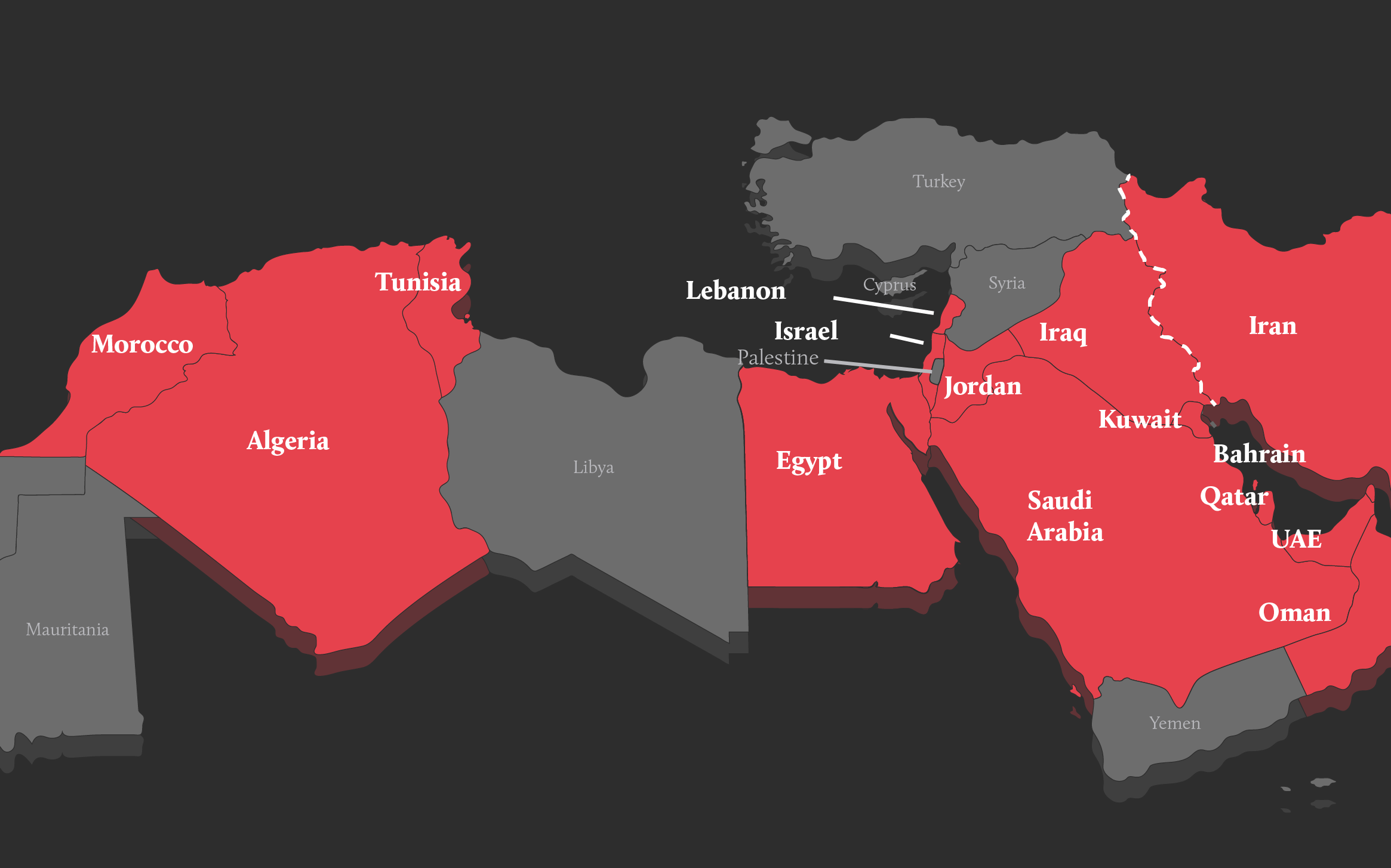 Map United Its Borders And Emirates Arab