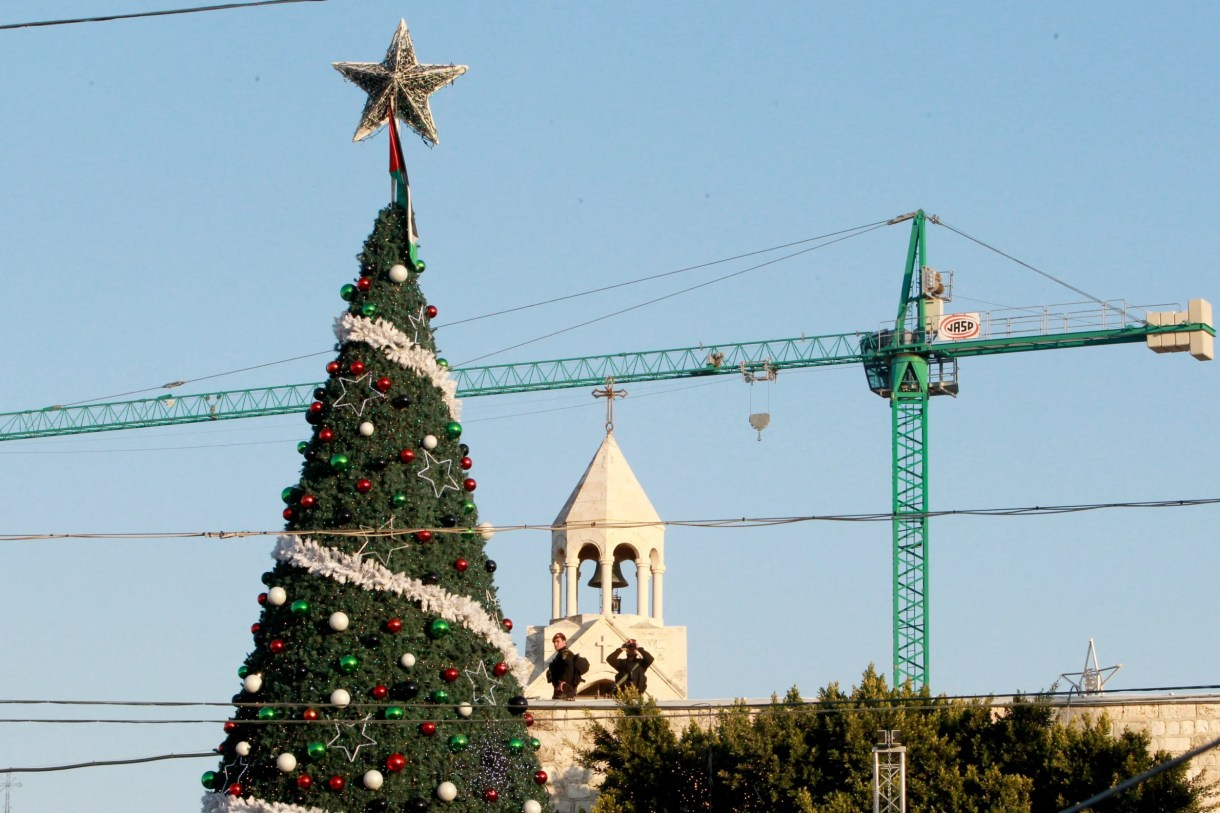 Palestinian security forces Christmas