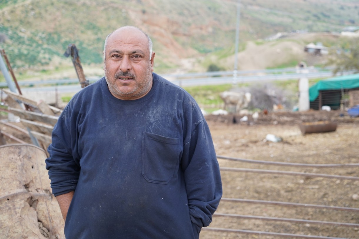 Jordan Valley Palestinian farmer Qadri Daraghmeh