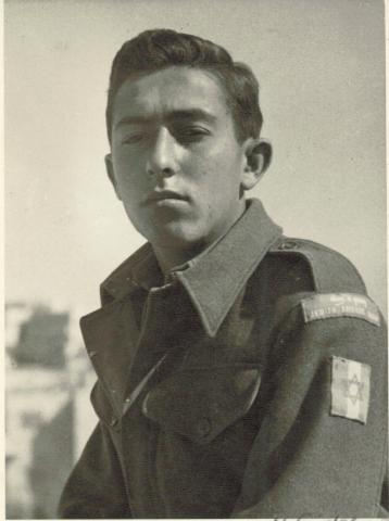 Yaacov Sharett, 22, in Hatserim (Courtesy Yaacov Sharett)