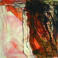 """Map"". Acrylic on Canvas - 100 X 100 cm, 2006. [Rafat Asad]"
