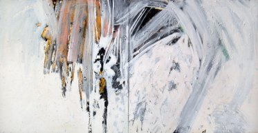 """White Phosphorus"". Acrylic on Canvas - 200 X 100 cm, 2009. [Rafat Asad]"