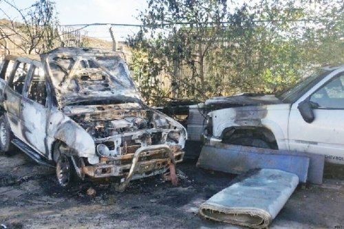 Jewish extremists set fire to two cars