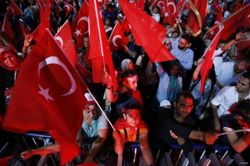 Turkey's three main political parties, including the Justice and Development (AK) Party, Republican People's Party (CHP) and Nationalist Movement Party (MHP) joined together for a pro-democracy rally on August 8 2015