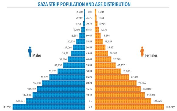 Age Distribution in the Gaza Strip