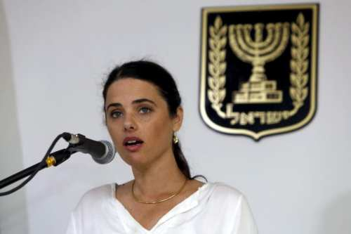 Image of Ayelet Shaked, Israel's new Justice Minister of the far-right Jewish Home party, in Jerusalem May 17, 2015 [REUTERS/Gali Tibbon/Pool]