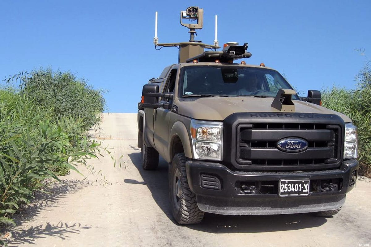 IDF's Border Protector Unmanned Ground Vehicles (UGVs) which it plans to deploy along the Gaza border