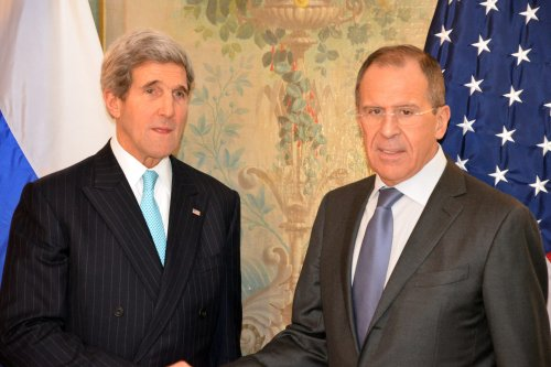 Russian Foreign Minister Sergey Lavrov and United States Secretary of State John Kerry [Flickr: U.S. Consulate General Munich]