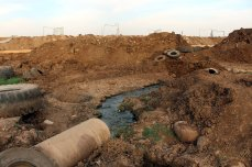 Polluted areas due to the Israeli sewage are seen in Golan Heights on October 25, 2016. [Anadolu Agency/Faruk Al Ahmed]