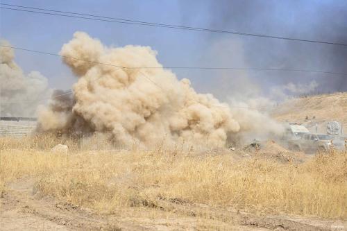 Debris of buildings are seen after airstrikess hit Syria [Anadolu]
