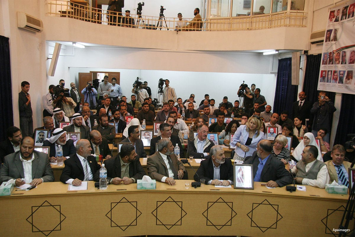 Image of the Palestinian parliament in session [Apaimages]