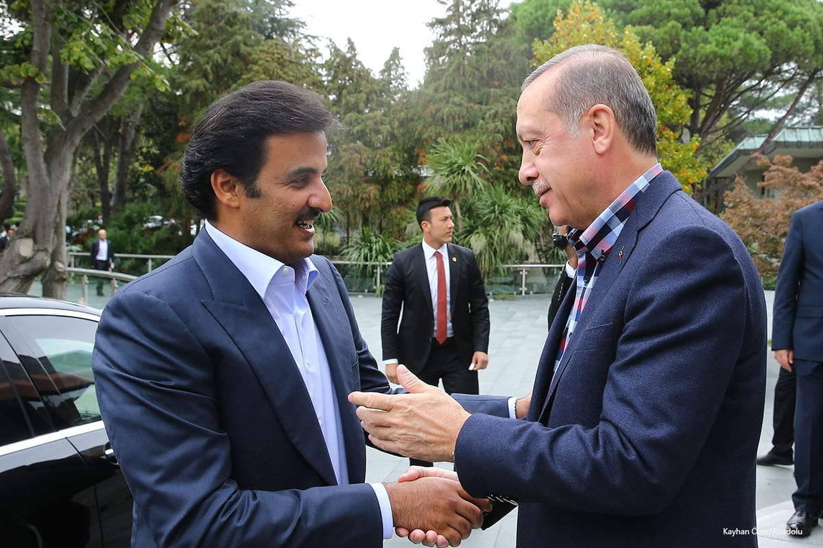 Recap meeting between Tayyip Erdogan and Tamim bin Hamad Al Thani on 23rd October 2016. Kayhan Özer/Anadolu